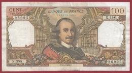 """100 Francs """"Corneille"""" Du 03/04/1969.F---VG/TTB---ALPH.N.398 - 1962-1997 ''Francs''"""