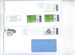 Lettre Flamme La Poste  Bleue Sur Timbre En Ligne à Voir - Annullamenti Meccanici (pubblicitari)