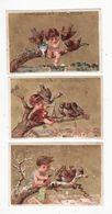 Chromo  CHOCOLAT DEVINCK    Lot De 5    Enfants Et Oiseaux    11.2 X 7.5 Cm - Chocolate