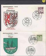 BRD       Ersttagsbriefe   2 Stück      MiNr. 502-503 - FDC: Briefe