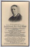 Doodsprentje GEESTELIJKE / PRIESTER Floris PRIMS °1882 Antwerpen SOC. DIENST BELGISCHE VLUCHTELINGEN ENG. +1954 Antw. - Santini