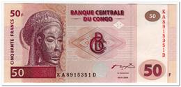 CONGO,50 FRANCS,2000,P.91,UNC - Democratic Republic Of The Congo & Zaire