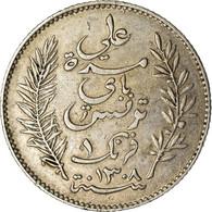 Monnaie, Tunisie, Ali Bey, Franc, 1891, Paris, TTB, Argent, KM:224 - Tunisia