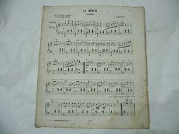 SPARTITO MUSICALE LE MèRITE VALZER A.GABARDINI VINCENT SAN PIETRO. - Scores & Partitions