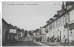 58 - NIEVRE - BRINON Sur BEUVRON- Route De Chevannes - Animée - Colorisée - Brinon Sur Beuvron