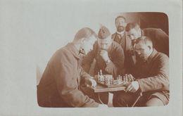 Carte Photo Joueurs D'échecs (militaires) - Chess