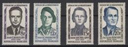 France: 1958. Y&T  N° 1157/60 ** MNH, Neuf(s). Cote Y&T 2020 : 6,50 € - Neufs
