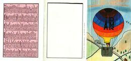 Petit Calendrier De Poche 4 Volets 1987 -    MONTGOLFIERE  Dessin D'Enfant -   ADMR - Petit Format : 1981-90