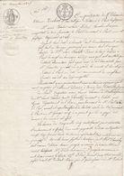 31 Novembre 1821- Quittance Entre La Comtesse D'Hervilly, Marquise De Balleroy Et Le Chevalier Dières -4 Scan - Seals Of Generality