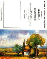 """Petit Calendrier De Poche 2 Volets 1993 -  Pharmacie   -   Peinture """"LE TOMBEAU""""     - - Petit Format : 1991-00"""