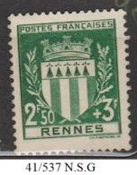 FRANCE Année 1941 N°  537 Neuf Sans Gomme - Nuovi