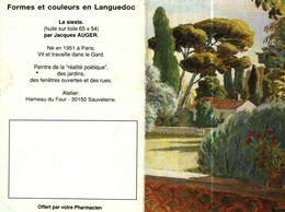 """Petit Calendrier De Poche 2 Volets 1993 -  Pharmacie   -   Peinture """"LA SIESTE"""" - Petit Format : 1991-00"""