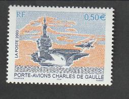 """Timbre  -  2003  - Bâtiment De Guerre  -  N °3557 -     """" Porte Avions Charles De Gaulle """"     -     Neuf Sans Charnière - Unused Stamps"""