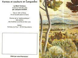 """Petit Calendrier De Poche 2 Volets 1993 -  Pharmacie   -   Peinture """"LE MONT VENTOUX"""" - Tamaño Pequeño : 1991-00"""