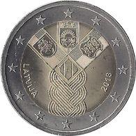 2E261 - LETTONIE - 2 Euros Commémorative - états Baltes 2018 - Lettonie