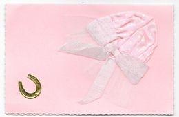 Cpsm: Sainte Catherine - Carte Double (Bonnet Tissu, Tulle, Ruban Rose, Fer à Cheval) - Sainte-Catherine
