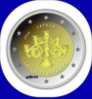 2020 Latvia Lettland  2 EURO Münze  Latgalian Keramik Kerzenhalter FROM ROLL - Lettonie