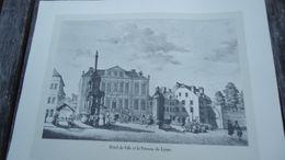 Reproduction - Hôtel De Ville Et Le Perron De Liège - Estampes & Gravures
