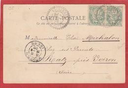Hautes-Alpes - Valserres - Facteur Boitier 24/09/1902 - Marcophilie (Lettres)