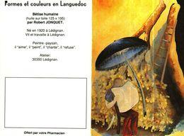 """Petit Calendrier De Poche 2 Volets 1993 -    Pharmacie -    Peinture """"Bêtise Humaine"""" - Tamaño Pequeño : 1991-00"""