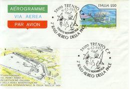 Italia - Aerogramma Con Annullo Speciale: 2° Raid Aereo Della Pace Trento/Norimberga A Trento - 1979. - Transports