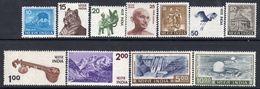 India 1974-83 Definitives Set Of 11, MNH, SG 729/38  (D) - Indien