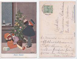 Buon Natale - Illustrato Da A. Bertiglia, Joyeux Noël Signée Bertiglia Illustrateur, 1915 - Bertiglia, A.