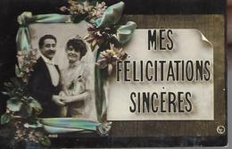 Couple :  Mes Félicitations Sincères - Couple De Mariés - Parejas