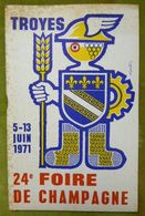 Catalogue Officiel De La 24e FOIRE DE CHAMPAGNE - TROYES - 5-13 Juin 1971 - Books, Magazines, Comics