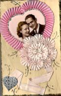 Couple :  Deux Cartes Artisanales Faites Main - Parejas