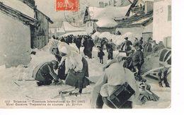 CARTE POSTALE - MONTGENEVRE - CONCOURS INTERNATIONAL DE SKI - - Briancon