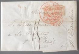 """Lettre De New York 30/04/1846 - Steamer Cambria"""" + Griffe COLONIES / &c.ART. 13 - (B2912) - 1801-1848: Précurseurs XIX"""