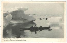 Groenland - Des Kaïaks à La Chasse De Phoques - Kayak - Kayaks - Exposition Coloniale Internationale Paris 1931 - Groenlandia