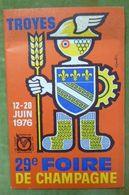 Catalogue Officiel De La 29e FOIRE DE CHAMPAGNE - TROYES - 12-20 Juin 1976 - Books, Magazines, Comics