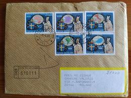 RACCOMANDATA VATICANO - POSTE VATICANE ZIMBABWE, FRANCIA, ITALIA, URUGUAY, AUSTRIA 1988 - Vatican