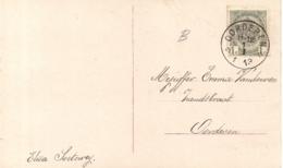 POSTKAART GELUKKIG NIEUWJAAR MET AFSTEMPELING OORDEREN 1.1 1913 - 1893-1907 Armoiries