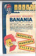 KB1765 - FEUILLET PUBLICITAIRE BANANIA - 19 X 13 CM - PLIE - Banania