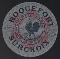 """Ancienne étiquette Fromage  Roquefort Surchoix  """" Le Coq""""  Calmes Frères - Cheese"""