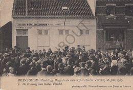 Postkaart - Carte Postale - WIJNEGEM - Begrafenis Karel Verbist 1909  (B195) - Wijnegem