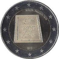 2E266 - MALTE - 2 Euros Commémorative - République En 1974 - 2015 - Malta