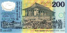 SRI LANKA - Central Bank Of Sri Lanka - 200 Rupees 04-02-1998 - Série N/22 306408 - Commémorati-polymer - P.114b - UNC - Sri Lanka