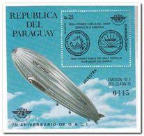 Paraguay 1976, Postfris MNH, Zeppelin ( Muestra ) - Paraguay