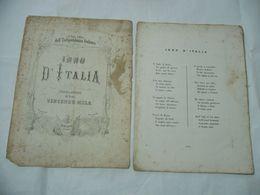 SPARTITO MUSICALE VINCENZO MELA INNO D'ITALIA SOLDATO INDIPENDENZA ITALIANA - Scores & Partitions