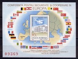 Roumanie - Rumänien - Romania Bloc Feuillet 1983 Y&T N°BF161A - Michel N°B196 *** - 10l Europa KSZE - Blocks & Sheetlets