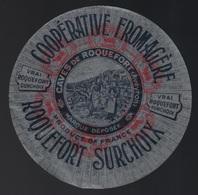 """Ancienne étiquette Fromage  Roquefort  Surchoix Aveyron 12 Coop Fromagèrecave De Roquefort """"femmes, Brebis"""" - Cheese"""