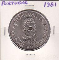 Portugal -Moeda De 100 Esc. Região Autonoma Da Madeira Ano 1981 - Portugal