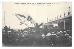 Cpa.grande Semaine D'aviation De Champagne (26 Aout 1909).l'appareil De Blériot S'abat Devant Les Tribunes..animée... - ....-1914: Précurseurs