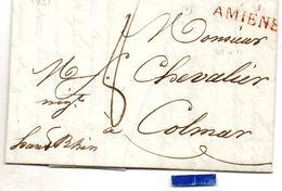 Somme - LAC (30/06/1821) Avec Marque 76/AMIENS En Rouge - Storia Postale