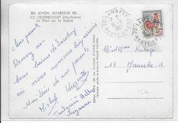 1967 - HAUTE SAONE - OBLITERATION HEXAGONALE De LAMBREY Sur CARTE De CENDRECOURT - 1961-....
