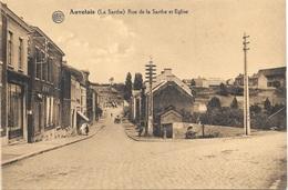 Auvelais NA31: La Sarthe. Rue De La Sambre Et Eglise - Sambreville